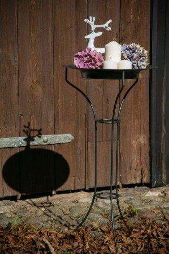 KUHEIGA Metallständer, Kranzhalter, Kranzständer, Mit Teller, Höhe: ca. 77,5 cm