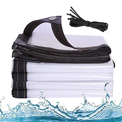J&SKD Lonas Impermeables Transparente Exterior Lluvia Herramienta De con Ojales Resistente Toldo Plegable Resistente Solar Anti-UV Prueba A Prueba De Viento Toldos PerforacióN Borde,a,3x3m