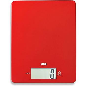 Wenko 53300100 Kuchenwaage Time Mit Uhr Elektronische Digitalwaage Mit Sensor Tastatur Und Tara Funktion Glas Rot 19 X 19 X 2 5 Cm Amazon De Kuche Haushalt