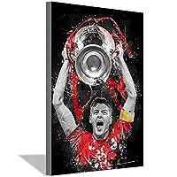 サッカー選手スティーブンジェラードキャンバス絵画アートポスター家の壁の装飾絵画サッカーファンスタジオ寝室リビングルーム装飾ポスター60x90cm(24x36inch)内枠