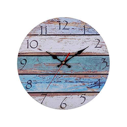 NA Reloj de Pared Rústico Vintage Grandes Números Arábigo