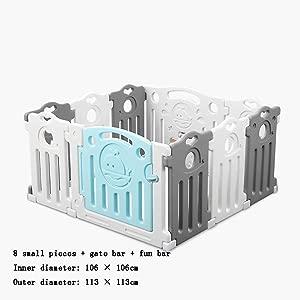 WGYDREAM Baby Playpen  Playpens 1 06mx70m Children s Fence For Indoor Living Room Children s Room  Color  gray   Color