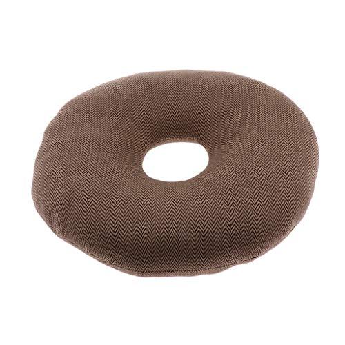 IPOTCH Donut Boden Kissen Rund Kissen Sitzkissen Anti Bedsore Decubitus Rollstuhl Sitz Sitzkissen Luftmatratze für längeres Sitzen - B