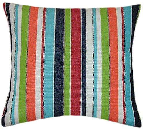 Sunbrella Carousel Confetti Indoor/Outdoor Striped Pillow 20x20