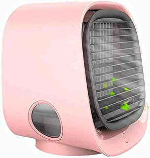 Bärbar luftkylare, Mini-luftkonditioneringskylare och luftfuktare, Små evaporativa kylare, 3 fläkthastigheter, 7 LED-nattl...