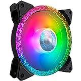 Cooler Master MasterFan MF120 Prismatic: Ventilador de Caja 120mm, Iluminación RGB Direccionable en Triple Anillo, Efecto Cristal, Refrigeración Silenciosa, Compatibilidad Completa