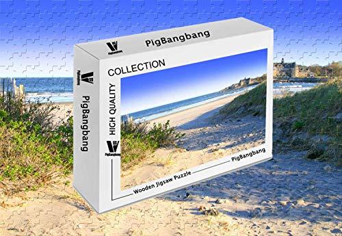 PigBangbang,Photomosaic Basswood in a Box - Narragansett Beach - 1000 Piece Jigsaw Puzzle (29.5 X 19.6'')