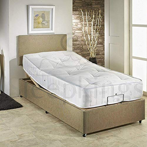sleepkings 4ft Small Double Electric Mink Bed With Memory Foam Mattress + Headboard - 3 Years Guarantee -Suitable For Disabled People