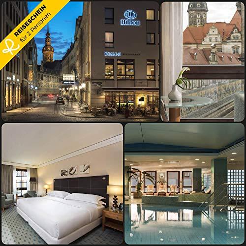 Reiseschein - 2 Tage Luxus für 2 im 4* Hotel Hilton Dresden erleben - Hotelgutschein Gutschein Kurzreise Kurzurlaub Reise Geschenk