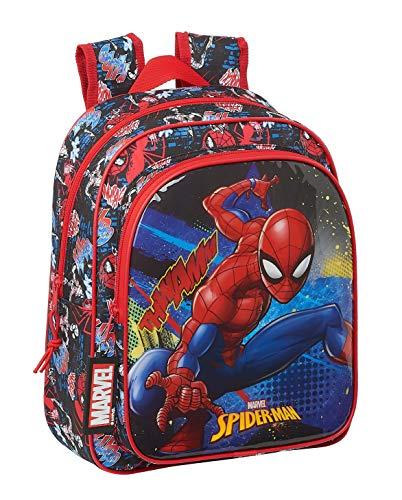 Safta Mochila Escolar Infantil de SpiderMan Go Hero  270x100x330mm  negro rojo