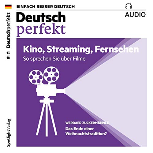 Deutsch perfekt Audio. 13/2018     Deutsch lernen Audio - Kino, Streaming, Fernsehen              By:                                                                                                                                 div.                               Narrated by:                                                                                                                                 div.                      Length: 58 mins     Not rated yet     Overall 0.0