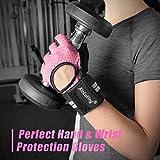 Fitself Fitness Handschuhe Trainingshandschuhe Gewichtheben Handschuhe mit Handgelenkstütze für Kraftsport Crossfit Workout Herren Damen - 3
