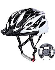DesignSter Casco Bicicleta Unisex Adulto Unisexo Ajustable 57-63 cm con Visera y Forro Desmontable Especializado para Ciclismo de Montaña Motocicleta