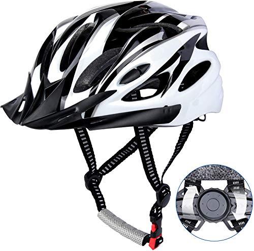 DesignSter Casco Bicicleta Unisex Adulto Unisexo Ajustable 57-63 cm con Visera y...