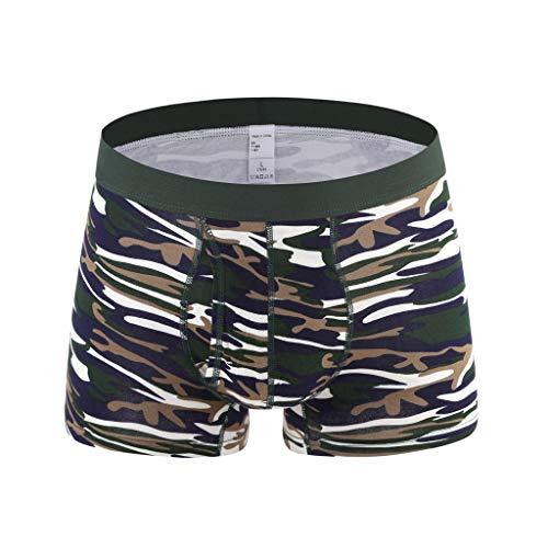 Men Boxeshorts,Z-MENG Sexy Kühlende Unterwäsche Hohe elastizität Baumwolle Sportunterwäsche für Herren Hipster Übergröße Retroshorts für Männer Atmungsaktiv Bequem Casual Unterhosen