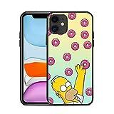 JINGJINGJIAYOU Simpsons Cartoon Soft Silicone Funda para el teléfono móvil del iPhone, Cáscara de Dibujos Animados de Moda para iPhone 12 Mini 11 Pro MAX XR x XS 7 8 Plus-Simponia_iphone6plus