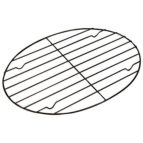 Fox Run Non-Stick Oval Roasting/Cooling Rack, 11.25 x 8.25 x 0.5 inches, Metallic