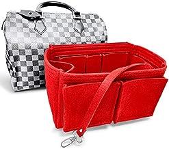 AlgorithmBags Purse Organizer Insert   designed for LV Speedy 30 35 40 25   Luxury Liner Shaper Divider (35, Red)
