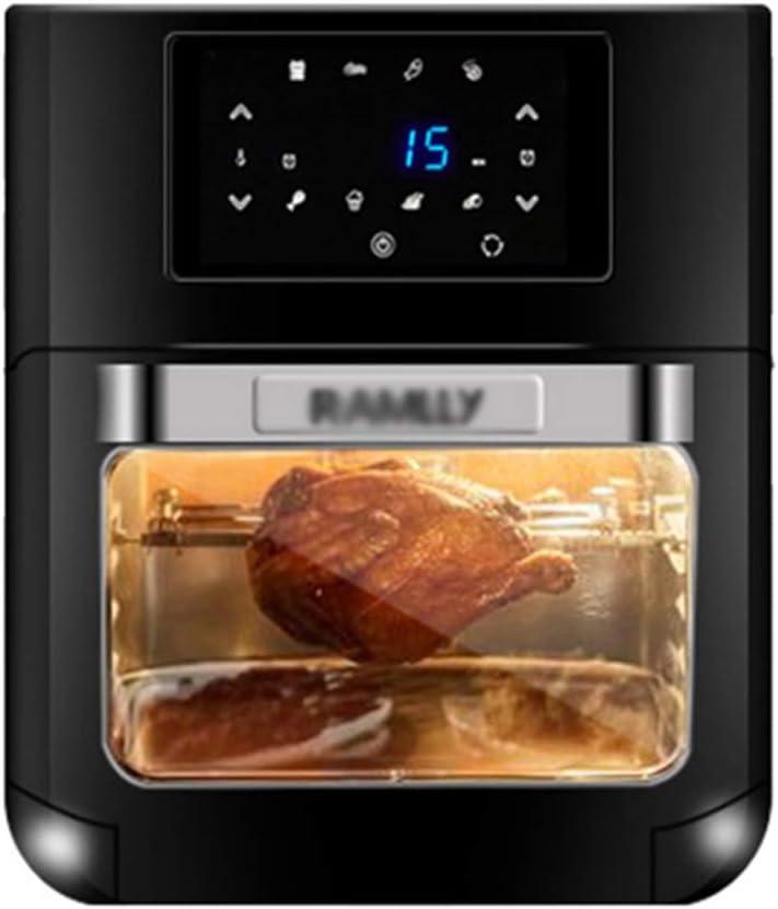 KELITE Mini Horno Hogar Multifuncional 12L Capacidad 360 ° Tambor de Acero Inoxidable Rotación de la Jaula Diseño Compacto 1700W Herramientas de Cocina Negro