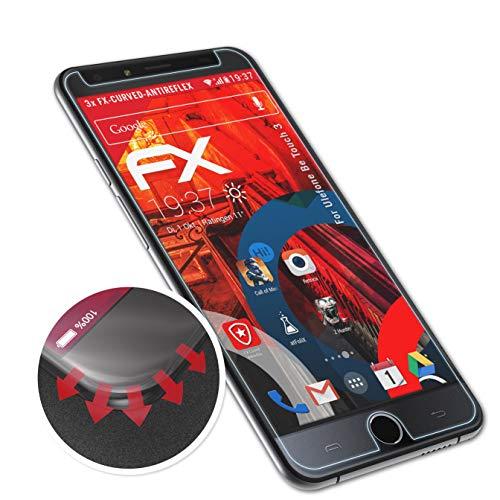atFolix Schutzfolie kompatibel mit Ulefone Be Touch 3 Folie, entspiegelnde & Flexible FX Bildschirmschutzfolie (3X)
