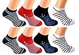 cocain 8 Paar Sneaker Socken Marke Füsslinge Söckchen für Damen Grösse 39-42, Maritim kurze socke Socken kürzer Damen Mädchen Füsslinge Sneakersocke