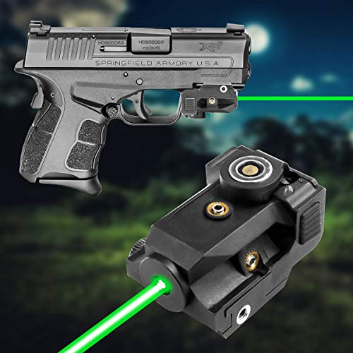 LASERCROSS LS01G Green Laser Sight for Handguns,Ultra Compact Pistol Laser with Magnetic Touch Charging,Shockproof Green Dot gun Lasers used for Pistols and Rifles that built with 20mm Picatinny Rails