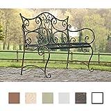 CLP Gartenbank Tara aus lackiertem Eisen I Sitzbank im Jugendstil I Eisenbank mit 2-3 Sitzplätzen I erhältlich Bronze