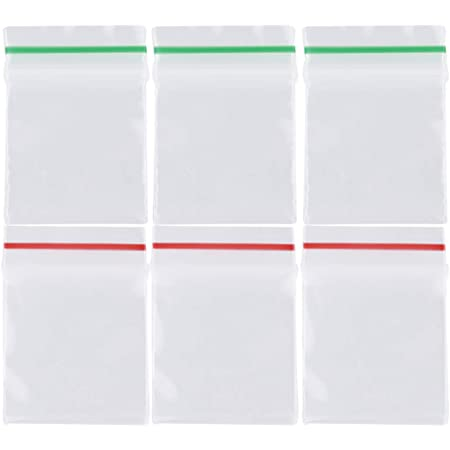 Frcolor チャック袋 チャック付ポリ袋 2.5x3cm ジッパー袋 透明 プラスチック袋 アクセサリーパーツ 小分け収納袋 密封保存袋 600枚セット