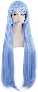 Kadiya Sky Blue Long Straight Women Hero Role Play Cosplay Wig Halloween Anime Performance Costume Wigs