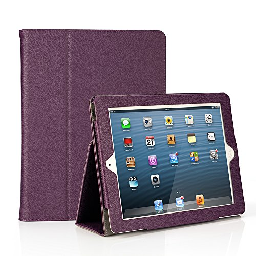 RUBAN Folio Case for iPad 2 3 4 (Old Model) 9.7 inch Tablet - [Corner Protection] Slim Fit Smart Stand Protective Cover Auto Sleep/Wake, Purple