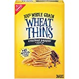 Wheat Thins Crackers, Cracked Pepper & Olive Oil Flavor, 1 Box (9 oz.)