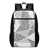 OMNVEQ Mochila Escolares Mosaico de construcción de cerámica Triangular, Mochila Tipo Casual para Niñas Niños Hombre Mujer Mochila para Ordenador Portátil Viaje