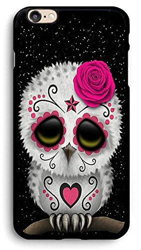 Cute Red Day of The Dead Sugar Skull Owl iPhone Case,PC Hard Case for iPhone (6/6s)