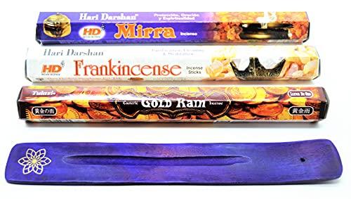 varitas de Incienso de 3 Reyes, Oro, Incienso, Mirra (3 Kings Gold Frankincense Myrrh ) Incienso...