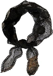 Sciarpa a triangolo in pizzo vuoto Foulard moda Sciarpa quadrata piccola Sciarpa a maglia trasparente in pizzo Sciarpa a t...