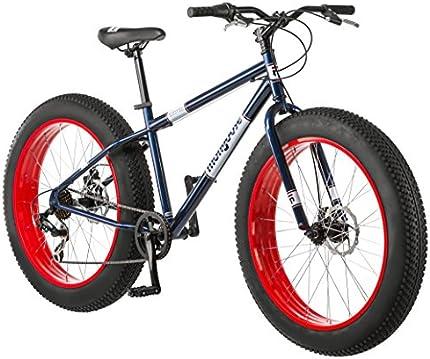 Bicicleta de ruedas anchas Mongoose, para adultos, de 26 pulgadas