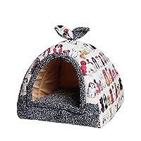 フリースソフトペット洞窟ホーム犬小屋子犬犬犬小屋犬小屋用ペットベッドハウスマットチワワ付きホーム犬小屋,A,XL