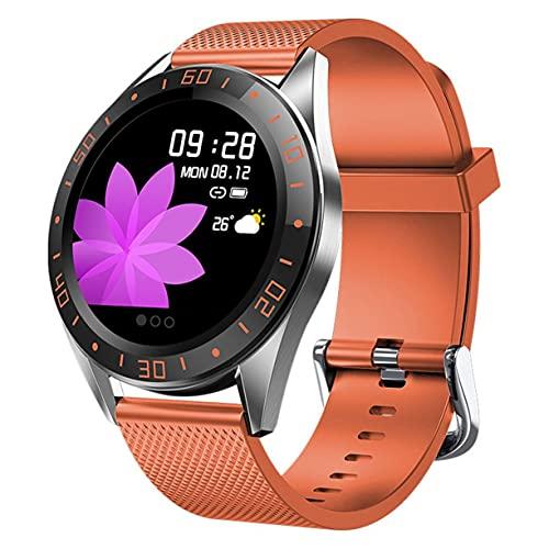 kkkl Reloj con podómetro con indicador de dial Digital GT105, monitorización de la frecuencia cardíaca y el sueño, Pantalla de Mensajes Push, Reloj Impermeable IP67