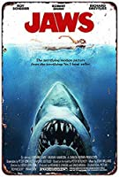 なまけ者雑貨屋 メタルサイン Jaws Movie ヴィンテージ風 ライセンスプレート メタルプレート ブリキ 看板 アンティーク レトロ