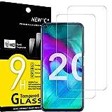 new'c 2 pezzi, vetro temperato compatibile con honor 20, honor 20 pro, pellicola prottetiva anti graffio, anti-impronte, durezza 9h, 0,33mm ultra trasparente, ultra resistente