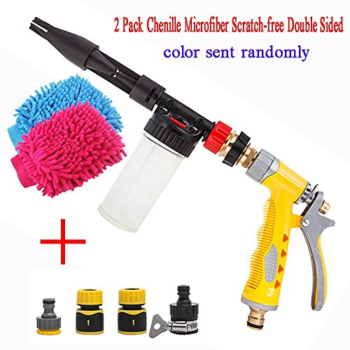 YiDA Multifunctionele autowaterpistool schuimspuitpistool tuinslang sprayer hogedrukschuim water spuitpistool 2 in 1 metaal
