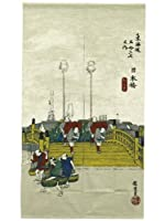 和柄 浮世絵のれん 東海道五十三次「日本橋」 国産 85cm×150cm No.1010