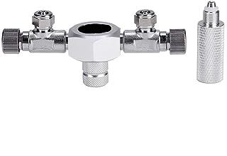 CO2水槽レギュレータ 水槽CO2レギュレーター アクアリウム CO2レギュレーター CO2流量調整 水草水槽用 圧力計コネクタ付属 安全性 軽量・耐久性 気密性(#1)
