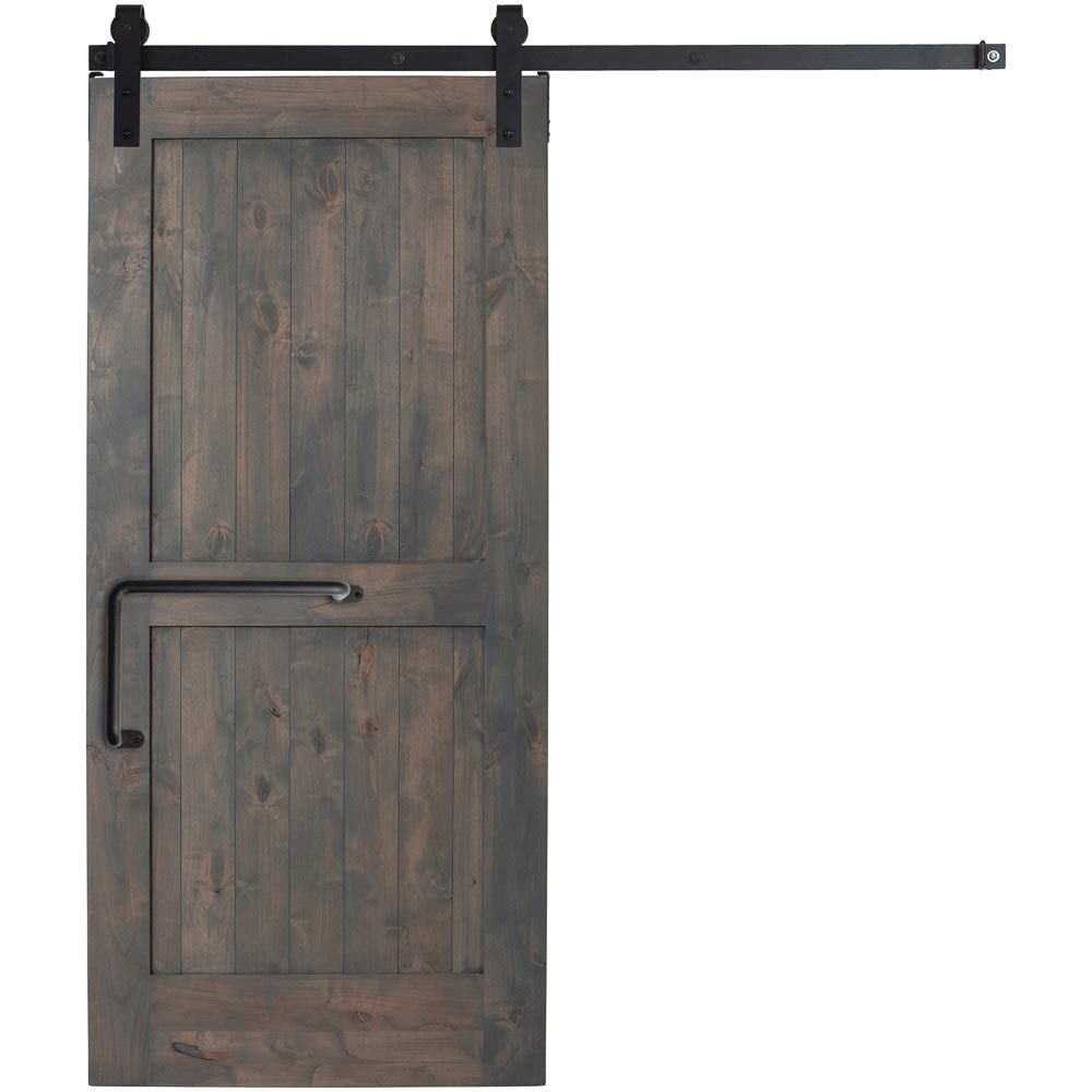 Tirador de armario Tirador de puerta de granero de hierro Estilo industrial Manija Puerta corredera Herrajes for muebles Puertas de gabinetes Garajes Cobertizos (Color : Black , Size : 300mm) : Amazon.es: Hogar