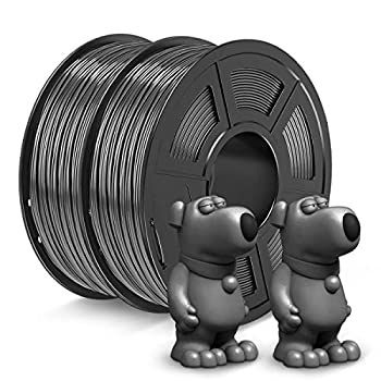 JAYO ABS Filament 1.75mm 2kg Spool  4.4lbs  ABS 3D Printer Filament Accuracy +/- 0.02 mm No Tangle No Clogging Tougher Than PLA Fit Most FDM Printers ABS Grey+Grey