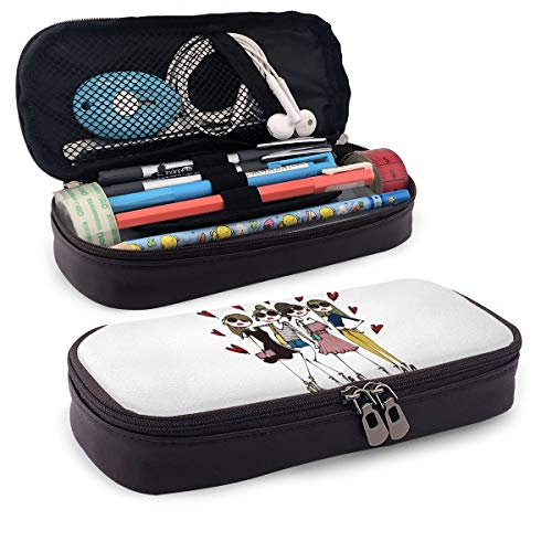 Daichi Miura 革 筆箱~ 鉛筆バッグ ペンケース 筆の袋 ペンシルケース 文房具袋 文具収納 多機能 大容量 ポーチ 軽量 通学~ 旅行 化粧ポーチ 高校生 男女兼用