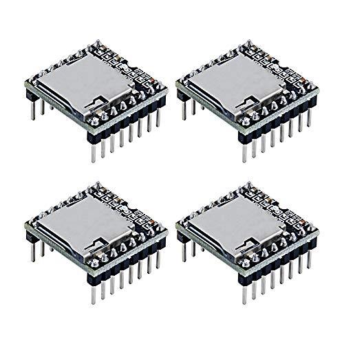 TeOhk 4pcs DFPlayer Mini MP3 Player Module Compatible with UNO R3 Audio Voice Decode Board Support TF Card,U Disk
