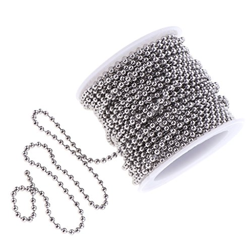sharprepublic 1 Rolle Kugelkette Edelstahl Perlenkette Verlängerung Perlen Rollenkette
