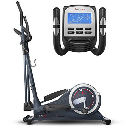 Sportstech CX650 Profi SMART ellittica tramite smartphone controllabili + Google Street View, Inerzia 26 KG, 5x HRC - 22 programmi di formazione - 32 livelli di resistenza - Ergo metri ellittica Stepper con smartphone App allenare/Cyclette CARDIO fitness