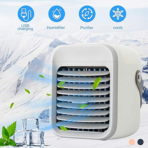 Mini Personal Air Conditioning Units- Wearable AC Portable Air Conditioning & Air Cooler, Rechargeable Cooled Air Conditioner - Personal Air Cooler with Handle for Home,Office,Bedroom